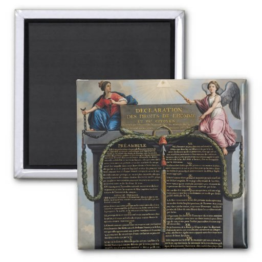 Declaration of the Rights of Man and Citizen 2 Inch Square Magnet