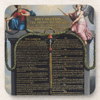 Declaration of the Rights of Man and Citizen Beverage Coaster