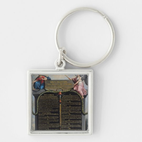 Declaration of the Rights of Man and Citizen Keychain