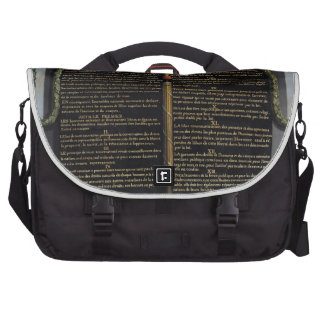 Declaration of the Rights of Man and Citizen Laptop Messenger Bag
