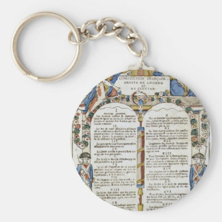 Declaration of the Rights of Man and of Citizen Key Chain