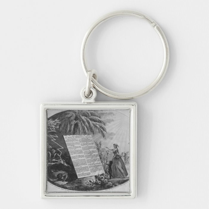 Declaration of the Rights of Man Keychain