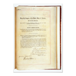 Declaration of War against Germany April 5 1917 Card