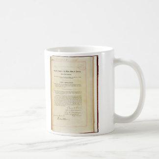Declaration of War against Germany April 5 1917 Coffee Mug