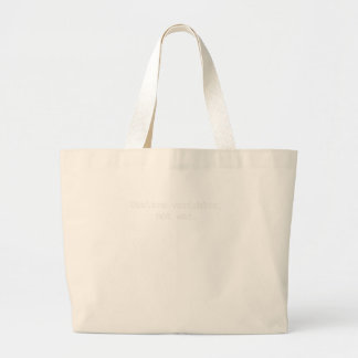 Declare Variables, Not War Large Tote Bag