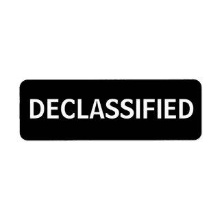 declassified return address labels