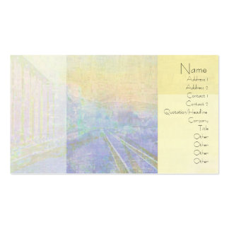 Deco Abstract Train Tracks Business Card