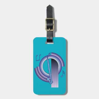 Deco Alto Clarinet Luggage Tag