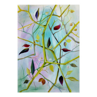 Deco Art - Multidimensional Painted Leaves Poster