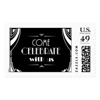 Deco Black Celebrate | Atelier Isabey Stamps