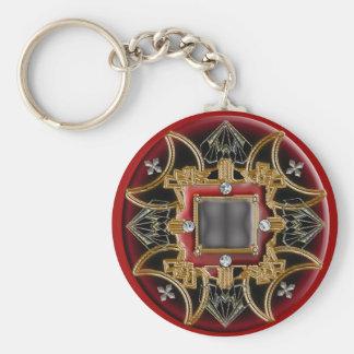 deco bloodcross basic round button keychain