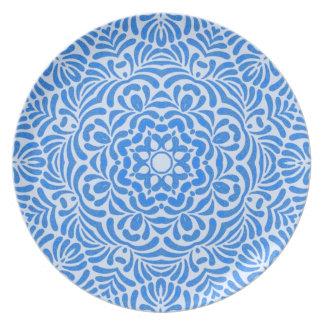 Deco Blue Star Mandala Plate