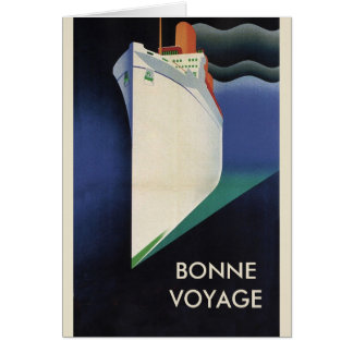 Deco Bonne Voyage Vacation Greeting Card