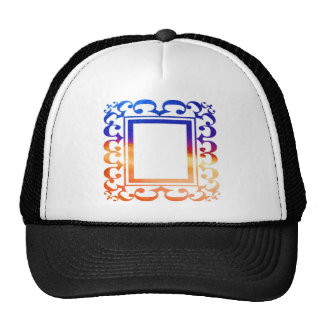 DECO BORDER: ADD TEXT OR IMAGE TRUCKER HATS