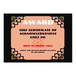 deco border pet award 2 card