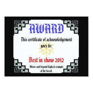 deco border pet award 3 card