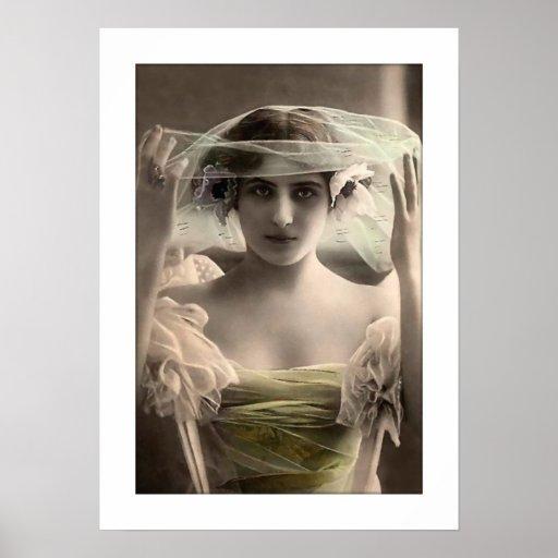 deco bride colorized veil poster