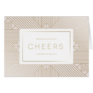Deco Cheers Corporate Holiday Greeting Card