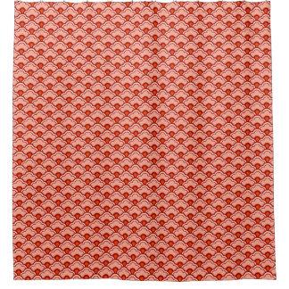 Deco Chinese Scallops, Peach, Rust and Cream Shower Curtain