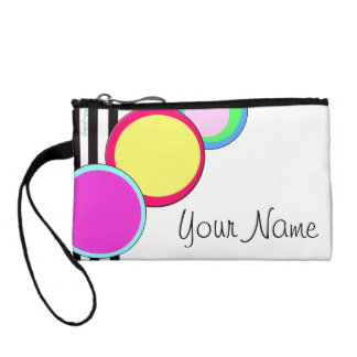 Deco Circles Geometric Modern Art Personalized Bag Coin Wallet