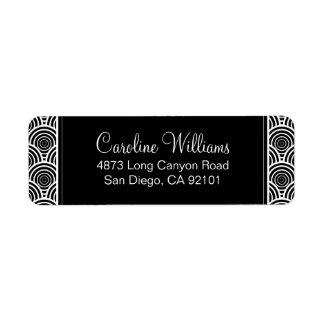 Deco Classic Custom Return Address Label