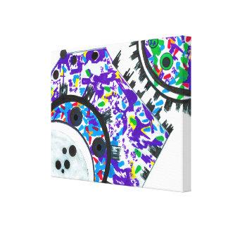 Deco Cogs Canvas Print