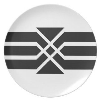 Deco Crest, Dinner/Party Plate