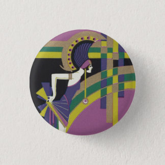 Deco Dancing Girl Badge Button