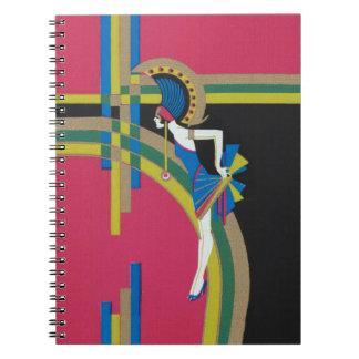 Deco Dancing Pink Notebook