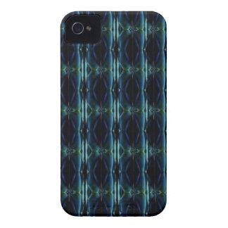 Deco de especie en Retro Style verde azul negro iPhone 4 Case-Mate Funda