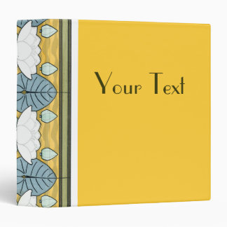 "Deco de oro floral carpeta 1 1/2"""