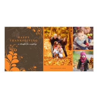 Deco deja la tarjeta de la foto del Día de Acción Tarjetas Con Fotos Personalizadas