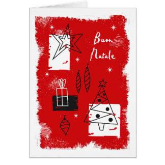 Deco del día de fiesta - italiano tarjeta de felicitación