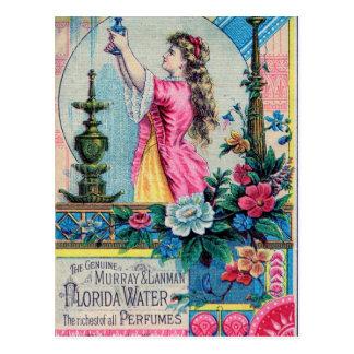 Deco del victorian del anuncio del perfume del postales