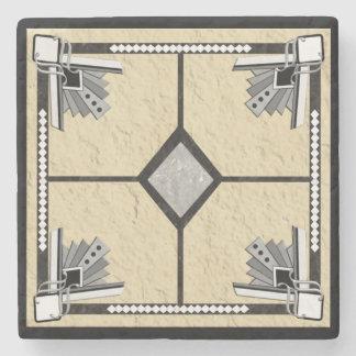 deco diamond stone coaster