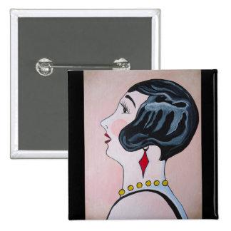 Deco Diva Pinback Button