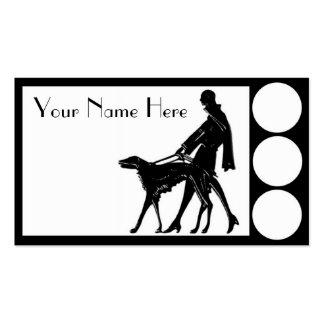 Deco Dog Walker Double-Sided Standard Business Cards (Pack Of 100)