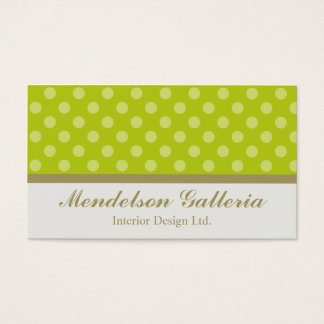 Deco Dots Green Design Company Business Card