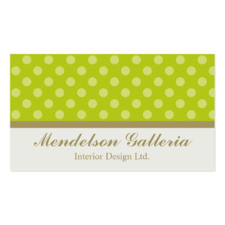 Deco Dots Green Design Company Double-Sided Standard Business Cards (Pack Of 100)