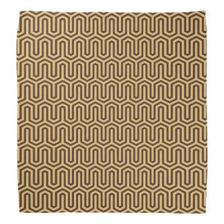 Deco Egyptian motif - caramel and chocolate Bandana