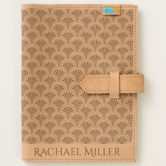 Deco Fan Pattern with Custom Monogram Journal