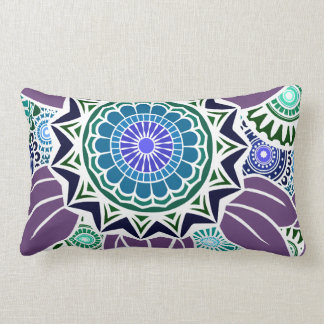 DECO FANDANGO in Teal, Green and Purple Throw Pillow