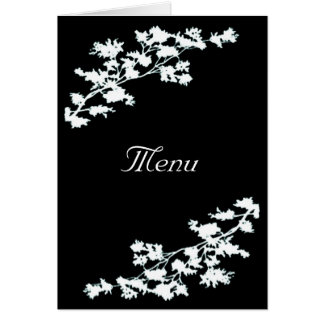 Deco floral que casa la tarjeta del menú