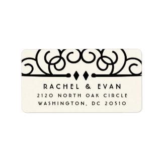 Deco Flourish Oversized Return Address | Ivory Label
