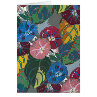 Deco Flowers and Leaves Card