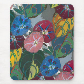 Deco Flowers and Leaves Mouse Pad