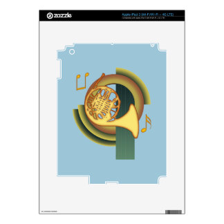 Deco French Horn iPad 3 Decal
