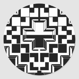 Deco geométrico pegatina redonda