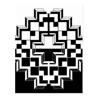 Deco geométrico tarjetas postales
