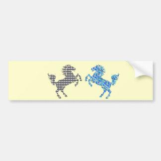Deco Horse Bumper Sticker